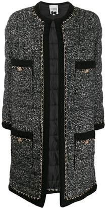 Edward Achour Paris mottled weave longline blazer