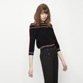 Maje Short ridged knit top