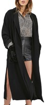 Topshop Women's Velvet Pocket Duster Coat