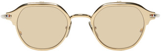 Thom Browne Gold and Silver TB-812 Flip-Up Sunglasses