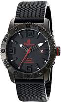 Burgmeister Men's Quartz Watch with Black Dial Analogue Display and Black Silicone Strap BM522-622E