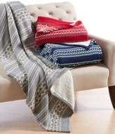 Martha Stewart Collection CLOSEOUT! Martha Stewart Collection Sweater-Knit Fair Isle Throw