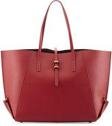 Zac Posen Eartha Folded-Gusset Shopper Bag, Red