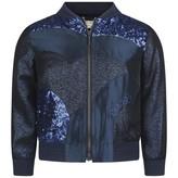 Kenzo KidsNavy Sequin & Lurex Patterned Jacket