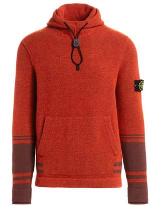 Stone Island Striped Fleece Hoodie