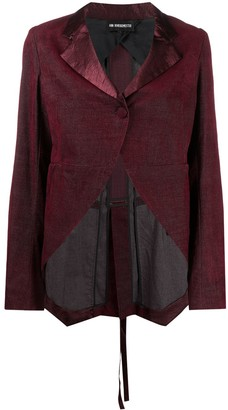 Ann Demeulemeester Satin Trim Tailored Jacket