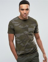 Jack and Jones Vintage T-Shirt with All Over Camo Print