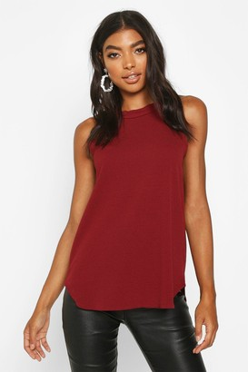 boohoo Tall High Neck Strap Top