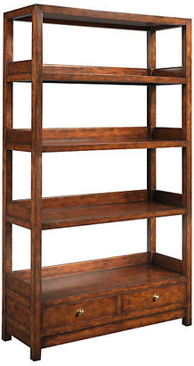 "One Kings Lane La Grange 76"" Bookcase - Sienna/Honey - frame, sienna/honey; hardware, gold"