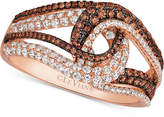 LeVian Le Vian Chocolatier Diamond Swirl Ring (9/10 ct. t.w.) in 14k Rose Gold