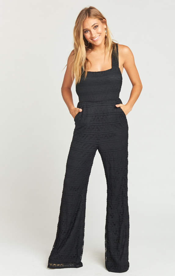 Show Me Your Mumu Judy Jumpsuit ~ One and Only Lace Black