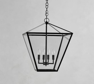 Pottery Barn Manor Indoor/Outdoor Triangle Glass Pendant