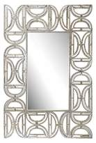 Lazy Susan Rectangle Decorative Wall Mirror with D Pattern Frame Gold
