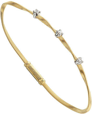 Marco Bicego Marrakech 18K Yellow Gold Twisted Bracelet with Diamonds