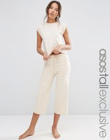 ASOS Tall ASOS TALL LOUNGE Culotte Marl Pants