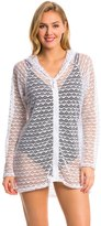 Nautica Swimwear Absolutely Shore L/S Hooded Cover Up Tunic 8139445
