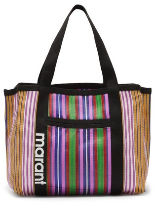 Isabel Marant Darwen Large Striped-nylon Tote Bag - Womens - Pink Multi