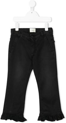 Fendi Kids Frill Cuff Jeans