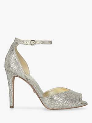 Michael Kors MICHAEL Cambria Stiletto Heel Sandals, Silver
