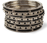Amrita Singh Black & Ivory Joan Bangle Set