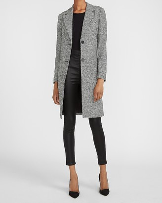 Express Houndstooth Two Button Car Coat