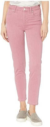 Paige Hoxton Slim Jeans w/ Welted Coin Pocket in Raspberry (Raspberry) Women's Jeans