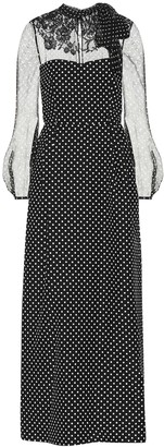Valentino Polka-dot wool and silk dress