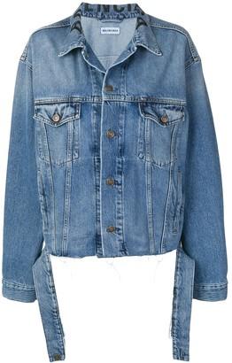 Balenciaga tie waist denim jacket