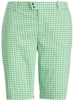Ralph Lauren Rlx Golf Gingham-Print Cotton Short