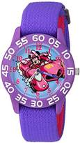 Disney Girl's 'Minnie Mouse' Quartz Plastic and Nylon Casual Watch, Color:Purple (Model: WDS000216)