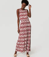 LOFT Tall Vineyard Tie Back Maxi Dress
