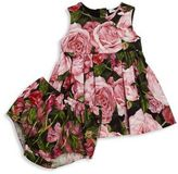 Dolce & Gabbana Baby's Two-Piece Floral-Print Dress & Bloomers Set
