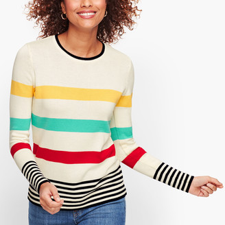 Talbots Pima Cotton Stripe Sweater