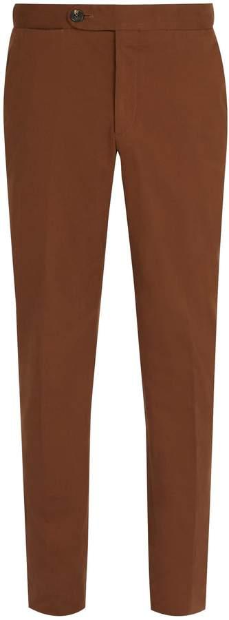 Ermenegildo Zegna Tailored cotton-blend trousers
