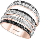 Effy Caviar by Diamond Multi-Row Ring (2-5/8 ct. t.w.) in 14k White and Rose Gold