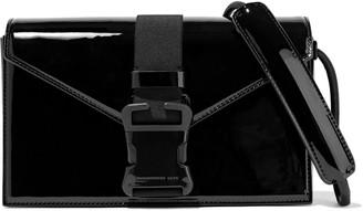 Christopher Kane Devine Buckled Patent-leather Shoulder Bag