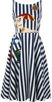 Dolce & Gabbana sleeveless striped beach applique dress