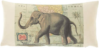 "French Laundry Home Elephant Pillow, 10"" x 20"""