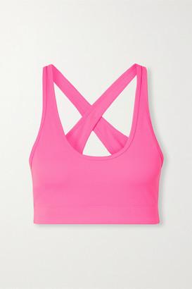 Adam Selman Stretch Sports Bra - Bright pink