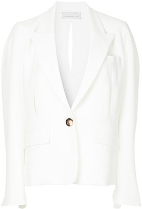 Juan Hernandez Daels Balance peak-lapel blazer