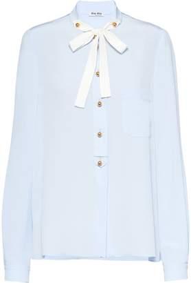 Miu Miu pussycat bow blouse
