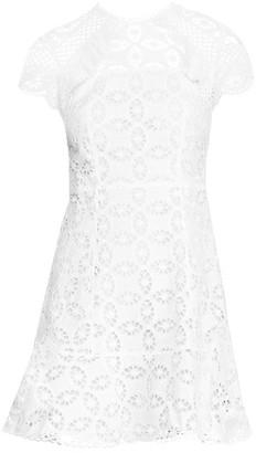 Sandro Corentin Eyelet Lace Fit-&-Flare Dress