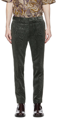 Dries Van Noten Grey Patterned Trousers