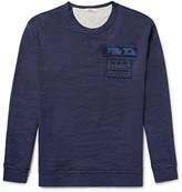 Valentino - Appliquéd Stretch Linen And Cotton-blend Sweatshirt