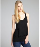 Marc by Marc Jacobs black jersey knit tiered open back 'Chelsea' sleeveless blouse