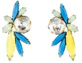 Elizabeth Cole Crystal Cluster Earrings