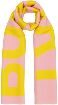 Burberry jaquard-knit logo scarf