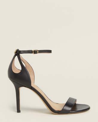 Lauren Ralph Lauren Black Gretchin Anke Strap Leather Sandals