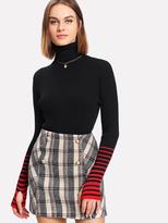 hole black sweater - ShopStyle