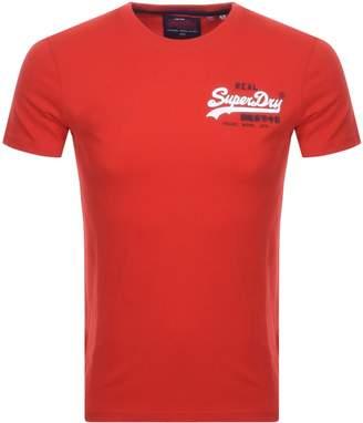 Superdry Vintage Short Sleeved T Shirt Red